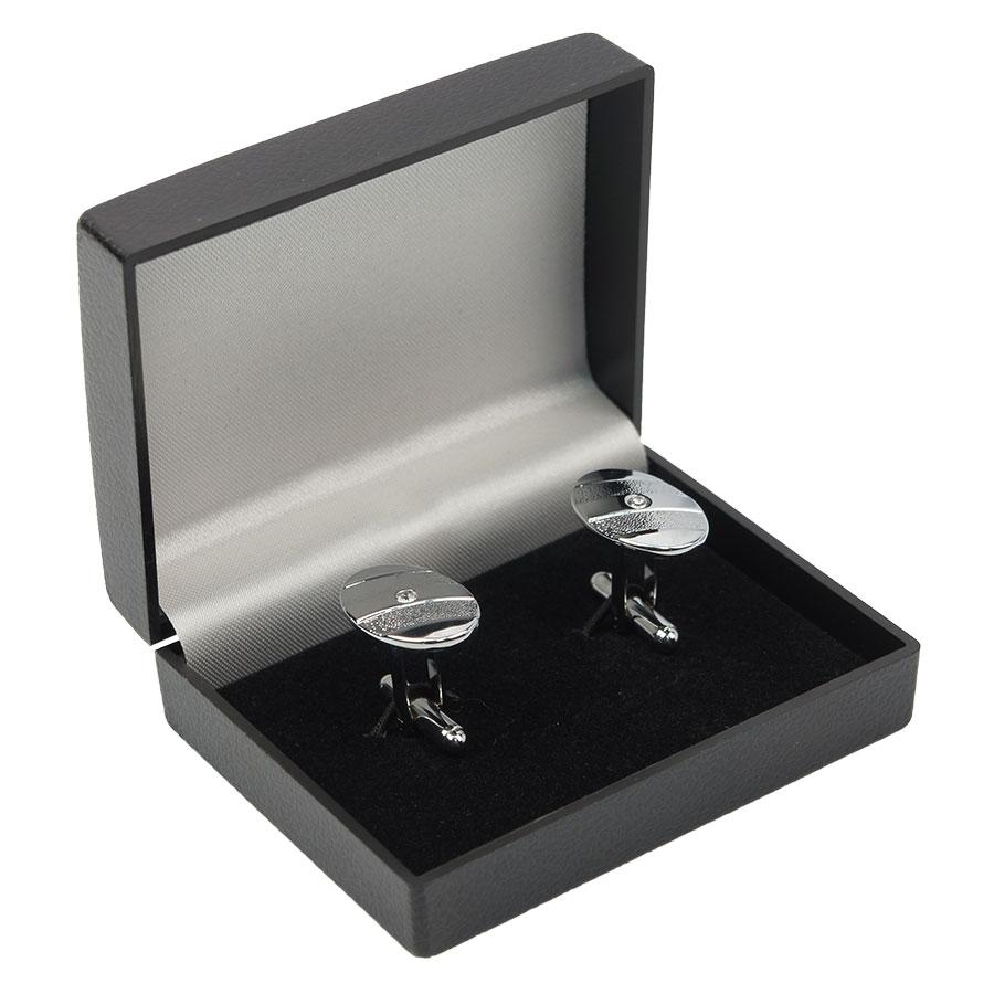 Запонки под серебро овальные (Турция) 0150 (Л)