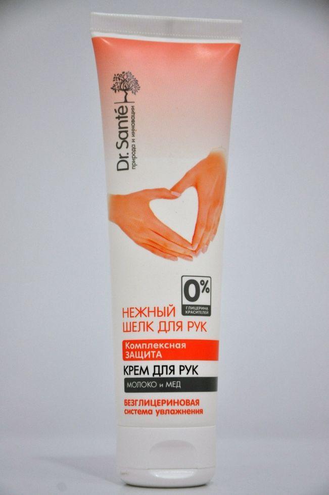 Крем для рук Комплексная защита. Молоко и Мед  Dr. Sante Нежный шелк  90мл.