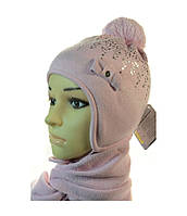 Зимний набор (шапка и шарф) Grans для девочки, размер 48-50 см