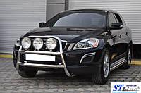 Кенгурятник Volvo XC60 2009-2017 (WT018 нерж)