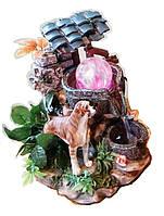 Фонтан Собака декоративный комнатный дворик с перцем 297-3 Размер 21=16=15 cm 078