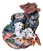 Фонтан Собака декоративный комнатный деревянный навес 297-3 Размер 21=16=15