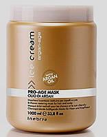 Маска для поврежденных и окрашенных волос с аргановым маслом PRO-AGE INEBRYA 1л.