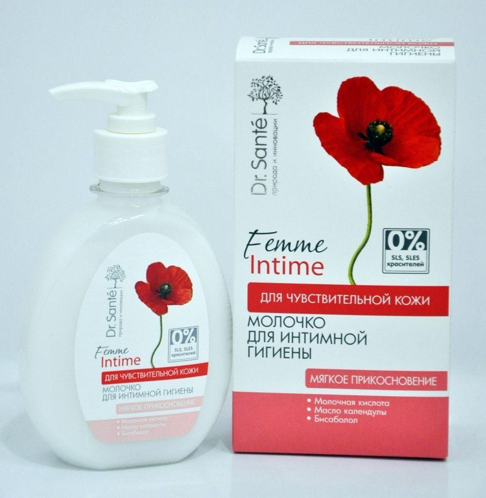 Молочко для интимной гигиены «Мягкое прикосновение» Для чувствительной кожи Dr. Sante Femme Intime 230 мл