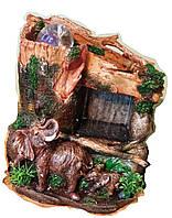 Фонтан  комнатный садовый декоративный Слонов семья у Секвойи водопад дождь шарик 1420 30см 078