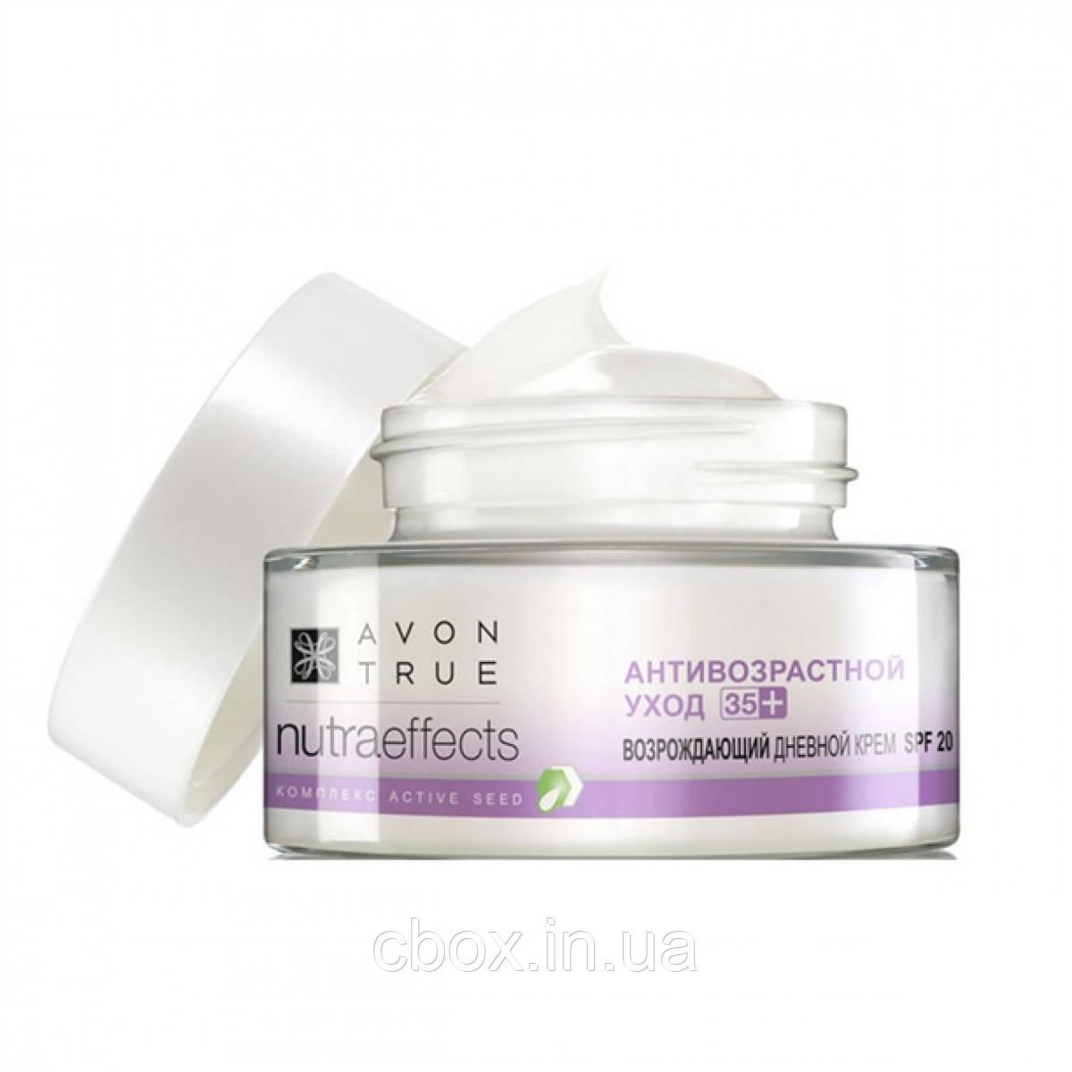 """Восстанавливающий дневной крем для лица """"Против морщин  55+,  Ageless Avon True Nutra Effects Эйвон Тру, 50 мл"""