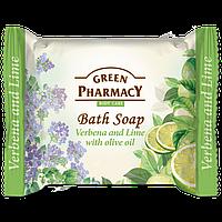 Мыло туалетное Вербена и лайм с оливковым маслом GREEN PharmacY 100гр.