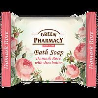 Мыло туалетное Дамасская роза с маслом ши GREEN PharmacY 100гр.