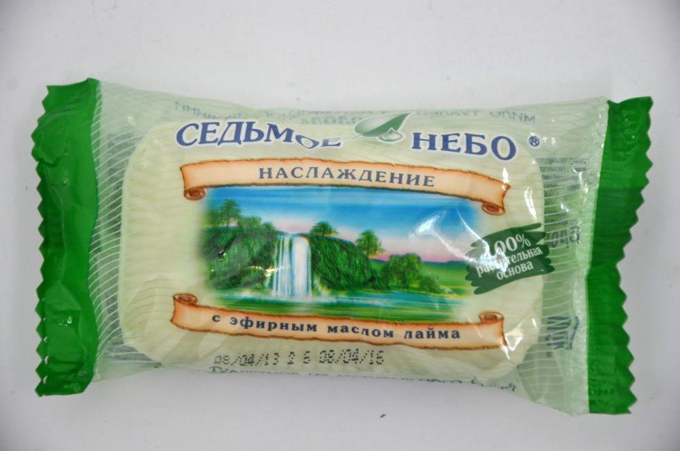 Мыло туалетное Наслаждение с эфирным маслом лайма Седьмое небо 70гр.