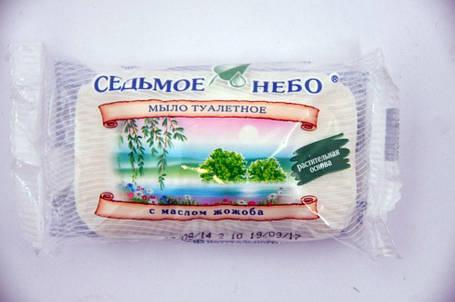 Мыло туалетное Нежность с эфирным маслом жожоба Седьмое небо 70гр., фото 2