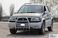 Кенгурятник Suzuki Grand Vitara 1998-2006 гг (QT007 нерж)