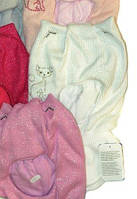 Шапка-шлем (капор) для девочки AGBO молочный, размер 50-52 см