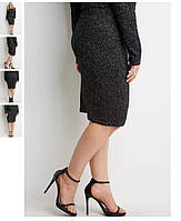 Юбка карандаш, бренд Forever 21 Metallic Ribbed Knit Skirt, оригинал из США