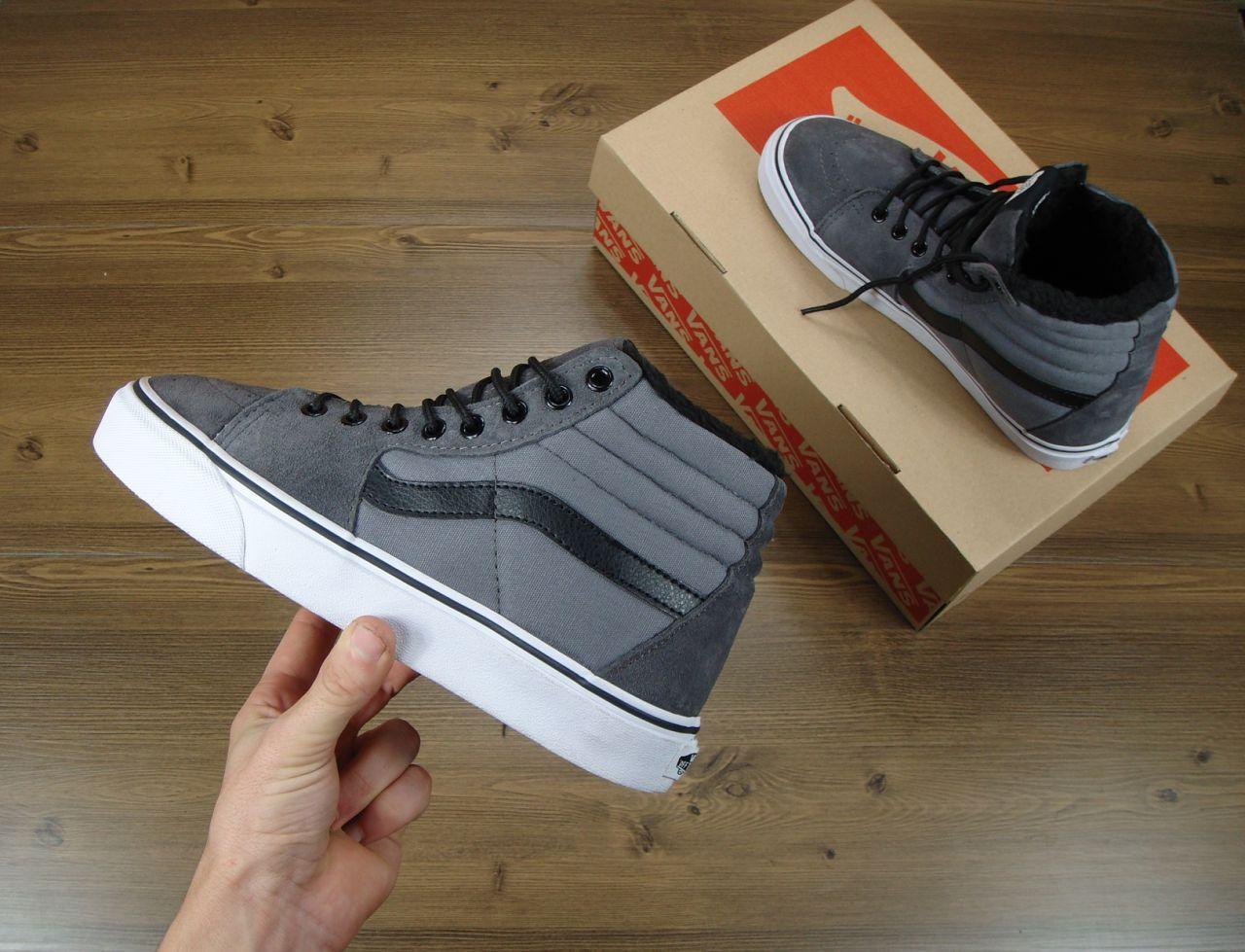 ca8e1f299a9d Зимние высокие кеды Vans мужские (серые) - Интернет-магазин стильной одежды  и обуви