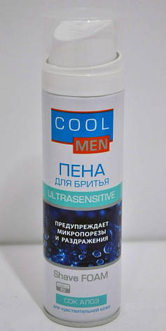 Пена для бритья Сок Алоэ  Ultrasensetive Cool Men 250мл., фото 2