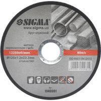 Круг отрезной по металлу Sigma ?125x1.2x22.2мм, 12250об/мин (1940081)
