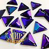 Пришивные треугольники (синтетич.стекло), цвет Sapphire AB 16x16, 1шт