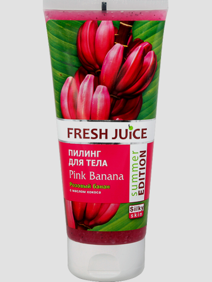 Пилинг для тела  Pink Banana (Розовый банан) Fresh Juice 200мл.