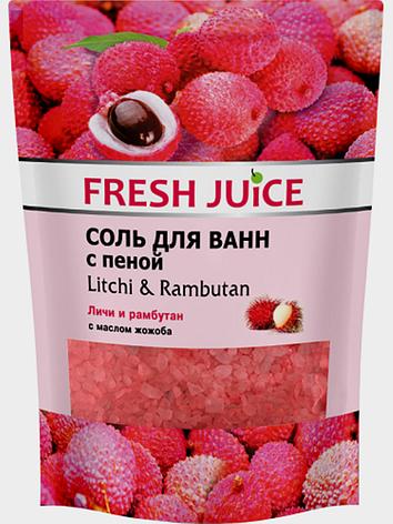 Соль для ванн с пеной Litchi & Rambutan (Личи и рамбутан) Fresh Juice 500мл., фото 2