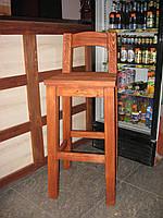 Барный стул из натурального дерева Альфа