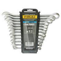 Ключи рожково-накидные Sigma 12шт 6-22мм CrV satine (6010121)