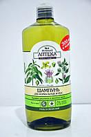 Шампунь для нормальных волос Крапива и репейное масло Зеленая Аптека 1л.