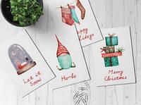 Рождественский набор из 8 открыток Наталии Павлюк