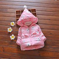 Демисезонная куртка нежно розового цвета для девочки  2,3,4,5,6 лет