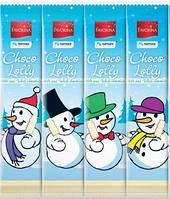 Снеговичок из белого и молочного шоколада на палочке (поштучно) Германия