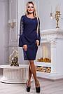 Платье женское с вышивкой синее, фото 2