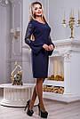 Платье женское с вышивкой синее, фото 3