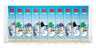 Снеговичок из белого и молочного шоколада на палочке 10шт. Новогодние сладости Favorina