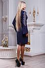 Платье женское с вышивкой синее, фото 5