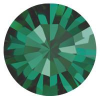 Пришивные стразы в цапах Preciosa (Чехия) ss16 Emerald/латунь