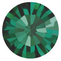 Пришивные стразы в цапах Preciosa (Чехия) ss16 Emerald/серебро