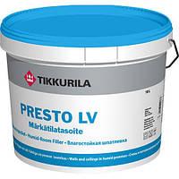 Влагостойкая шпатлевка Tikkurila Presto LV (Престо ЛВ) готовая 3 л