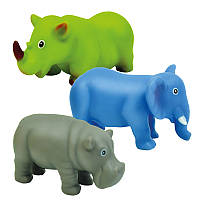 Животные-пищалки для ванной 'Африка' 3шт. в сетке 12*16*8см. //