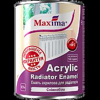 Эмаль акриловая для радиаторов отопления Maxima (Белая) 0.75л