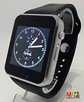 Смарт часы с камерой Smart Watch A1. Аналог Apple watch Черные с серебром