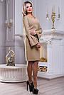Платье нарядное с вышивкой женское кофе, фото 3