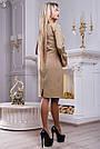 Платье нарядное с вышивкой женское кофе, фото 5