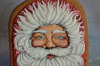 Пряник имбирно-медовый новогодний - Дед Мороз