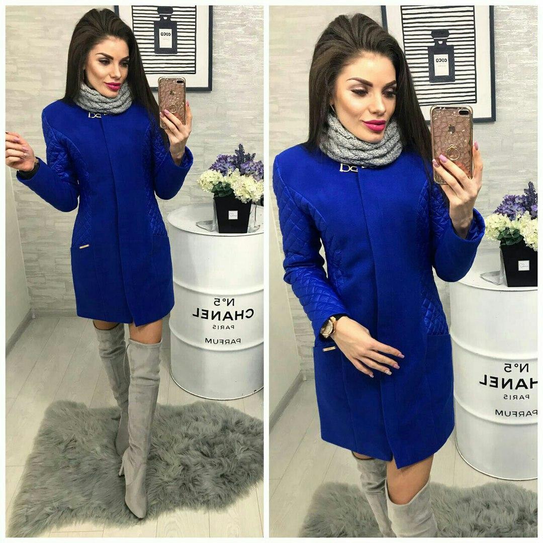 906b92873e3a Демисезонное комбинированное женское пальто турецкий кашемир+ плащевка на  ...