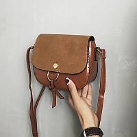 Женская сумочка мини коричневая , фото 1