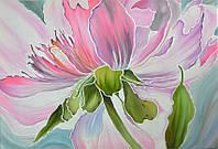 Картина батик панно Картина батик Розовое настроение 45х65см.