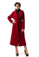 Пальто кашемировое на подкладке оптом. Модель ПЛ003_бордо.