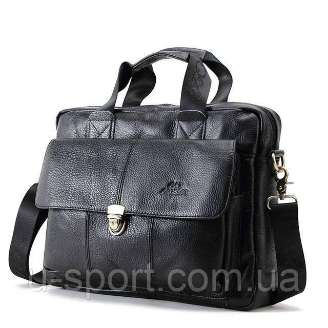 2228aecc0ce3 Мужская кожаная сумка Ox Bag Briefcase (чёрная, натуральная кожа) -  Интернет-магазин