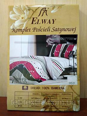 """Комплект постельного белья Elway """"Евро"""" , фото 2"""