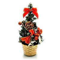 Игрушка новогодняя Елка в корзинке 20 см