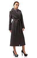 Пальто кашемировое на подкладке оптом. Модель ПЛ003_серый., фото 1